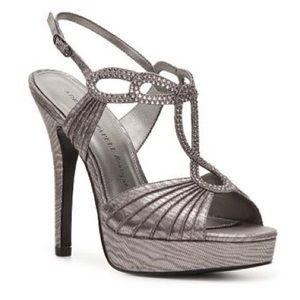 Adrianna Papell Boutique • Pewter Jeweled Heels